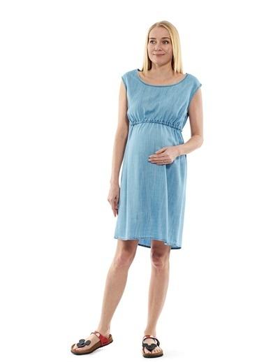 Motherway Maternity Elbise Mavi
